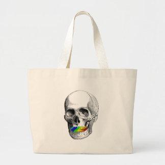Rainbow Grill Skull Large Tote Bag