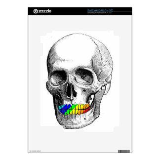 Rainbow Grill Skull Skins For iPad 2