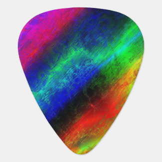 Rainbow Grunge Abstract Guitar Pick
