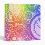 Rainbow Grunge Circles: Custom Binder