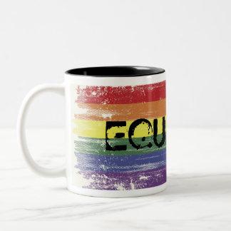 Rainbow Grunge Coffee Mug - EQUALITY