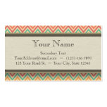 Rainbow Grunge Zigzag Chevrons Double-Sided Standard Business Cards (Pack Of 100)