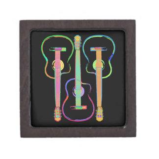 Rainbow Guitar Jewelry Box
