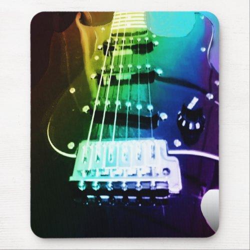 Rainbow Guitar Mousepad zazzle_mousepad