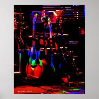 Rainbow Guitar Poster