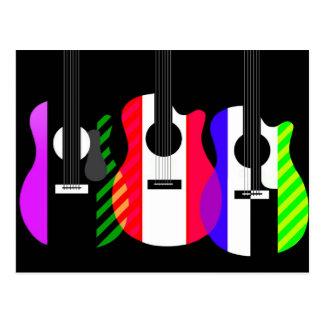 Rainbow Guitars design Postcard