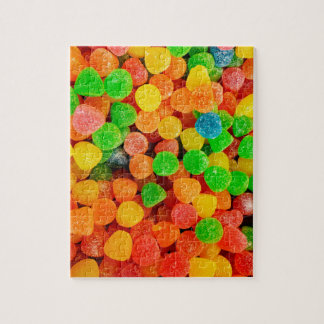 Rainbow Gummy Dots - Candy Print Jigsaw Puzzle