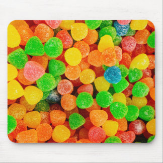 Rainbow Gummy Dots - Candy Print Mouse Pad