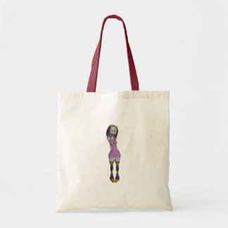 Rainbow Hair 3D Bonga Doll Halftone - Goth/Punk Tote Bag