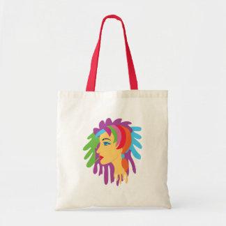 Rainbow Hair Tote Bags