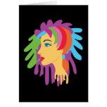 Rainbow Hair Card