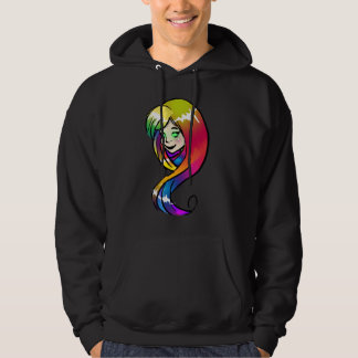 Rainbow Hair Fairy Hoodie