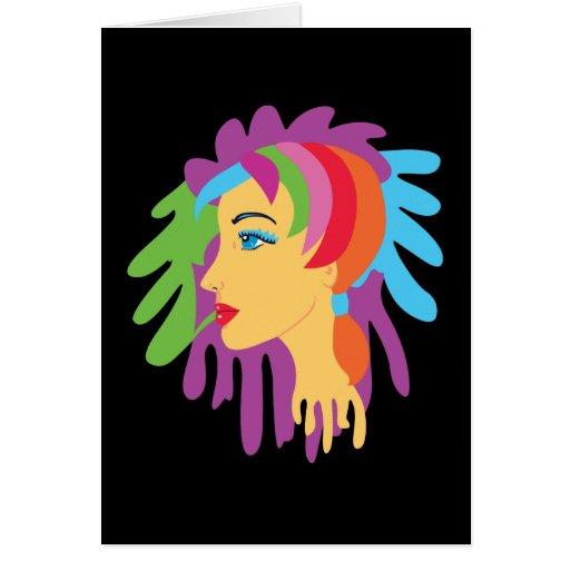 Rainbow Hair Greeting Card