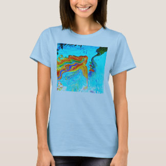 rainbow hair mermaid T-Shirt