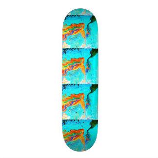 rainbow hair mermaids skateboard