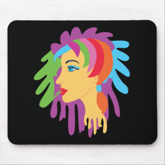 Rainbow Hair Mouse Pad