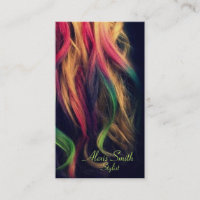 Rainbow Hair Stylist Profile Cards