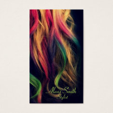 Rainbow Hair Stylist Profile Cards at Zazzle