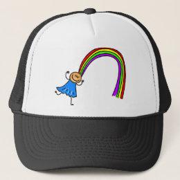 Rainbow Hair Trucker Hat