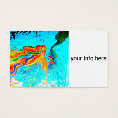 Rainbow Haired Mermaid Business Card at Zazzle
