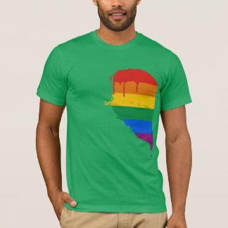 RAINBOW HALF HEART LEFT -.png T-Shirt