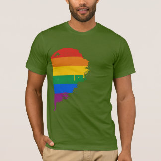 RAINBOW HALF HEART RIGHT -.png T-Shirt