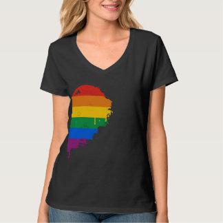 RAINBOW HALF HEART RIGHT -.png T-Shirt