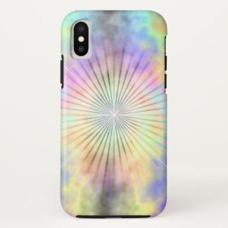 Rainbow Halo Star Burst iPhone X Case