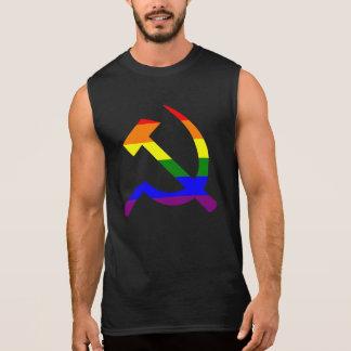 Rainbow Hammer And Sickle Sleeveless T-shirts