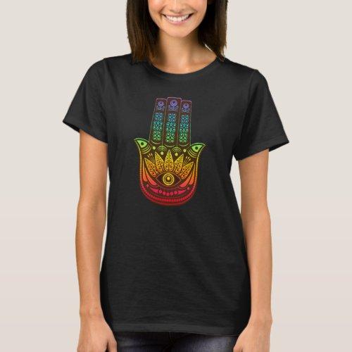 Rainbow Hamsa Hand of God T_Shirt