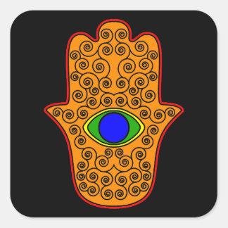 Rainbow Hamsa-Hand of Miriam-Hand of Fatima.png Stickers