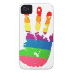 Rainbow Handprint iPhone 4/4S Case-Mate B.T.