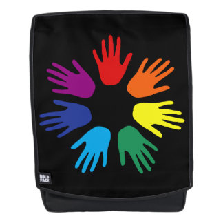 Rainbow hands backpack
