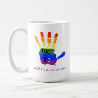 Rainbow Hands Classic White Coffee Mug