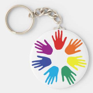 Rainbow hands key chain