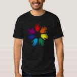 Rainbow hands shirt