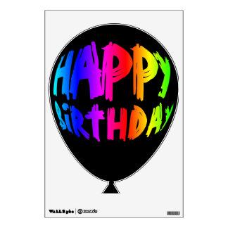 Rainbow Happy Birthday Balloon 2 Wall Decal