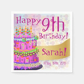 "Rainbow ""Happy Birthday"" Cake - Paper Napkin 2"