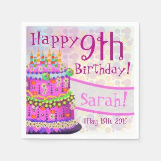 "Rainbow ""Happy Birthday"" Cake - Paper Napkin 3"