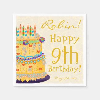 "Rainbow ""Happy Birthday"" Cake - Paper Napkin 6"