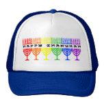 Rainbow Happy Chanukah Hats