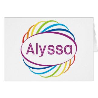 Rainbow happy frame Alyssa Card