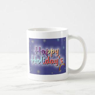 Rainbow Happy Holiday's Coffee Mug