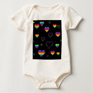 Rainbow harts baby bodysuit