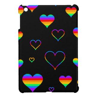 Rainbow harts case for the iPad mini