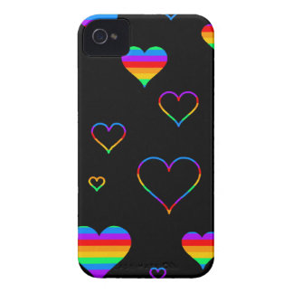 Rainbow harts iPhone 4 cover