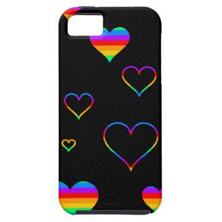 Rainbow harts iPhone SE/5/5s case