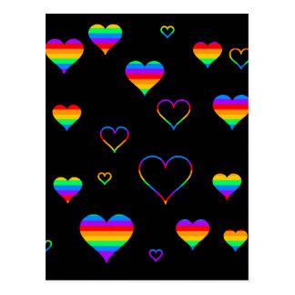 Rainbow harts postcard