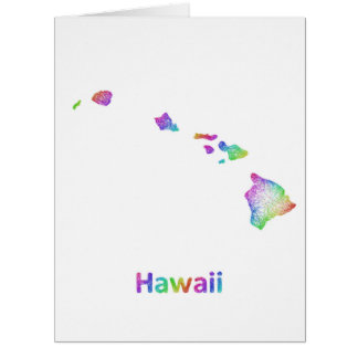 Rainbow Hawaii map Card