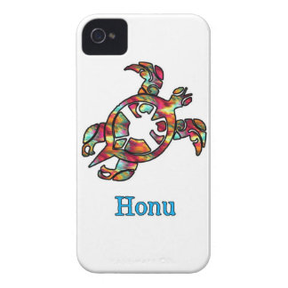 Rainbow Hawaiian Sea Turtle on White Case-Mate iPhone 4 Case